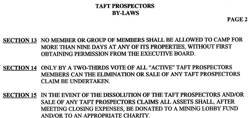 taft by laws - 2